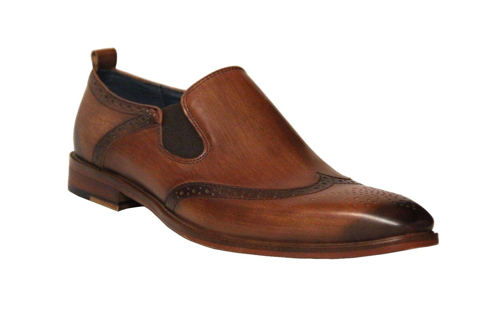 sconto prezzo basso Zota Unique Uomo Marrone Leather Slip On On On Dress scarpe HX005  risparmia il 60% di sconto
