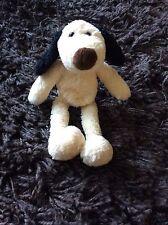 Gund Dog Soft Toy Beanie Black Brown Cream