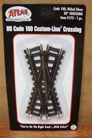 Atlas Model Railroad 30 Degree Crossing Nickel Silver Rail Ho Scale Code 100