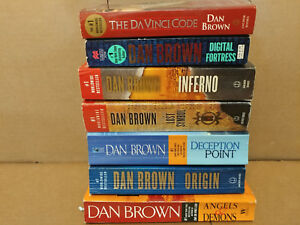 LOT-OF-3-The-Da-Vinci-Code-Robert-Langdon-Dan-Brown-Paperback-PBs-RANDOM-MIX
