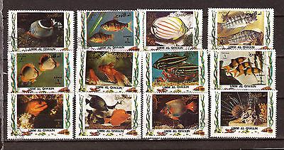 Stamps Animal Kingdom Cheap Sale Umm El Qiwain Fish Various Aquarium 28m192a