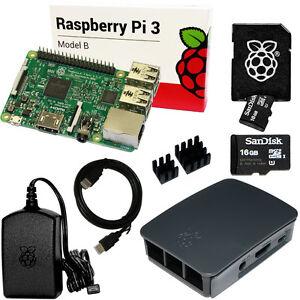 raspberry pi sd karte Raspberry Pi 3 Set /Bundle: 16GB SD Karte, HDMI, original Netzteil