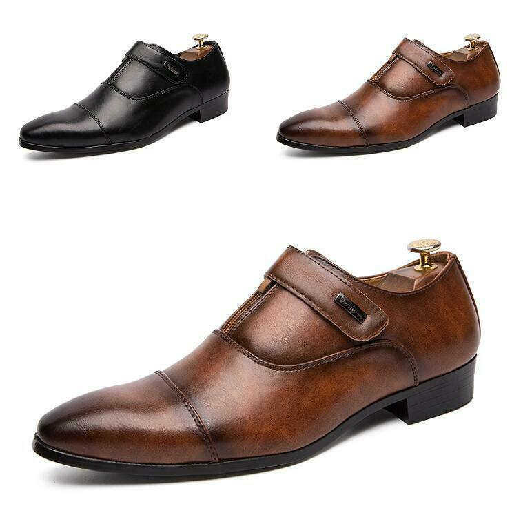 Men's new shoes Formal shoes Leisure Leather Lace up British Pointy Toe Business New