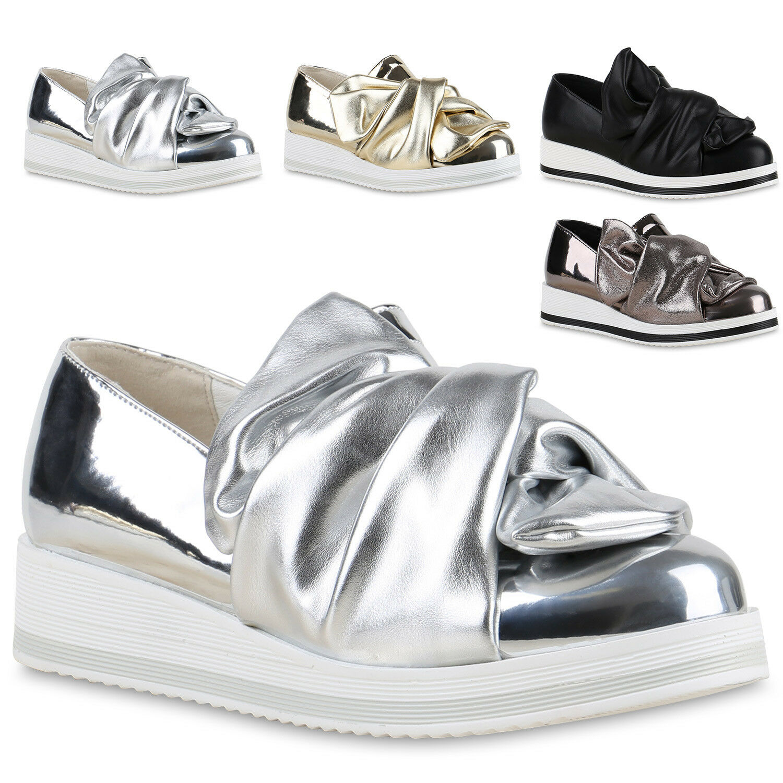 Crazy Damen  Slipper Metallic Loafers Lack  Damen zapatos  814381 Trendy 74fb1a