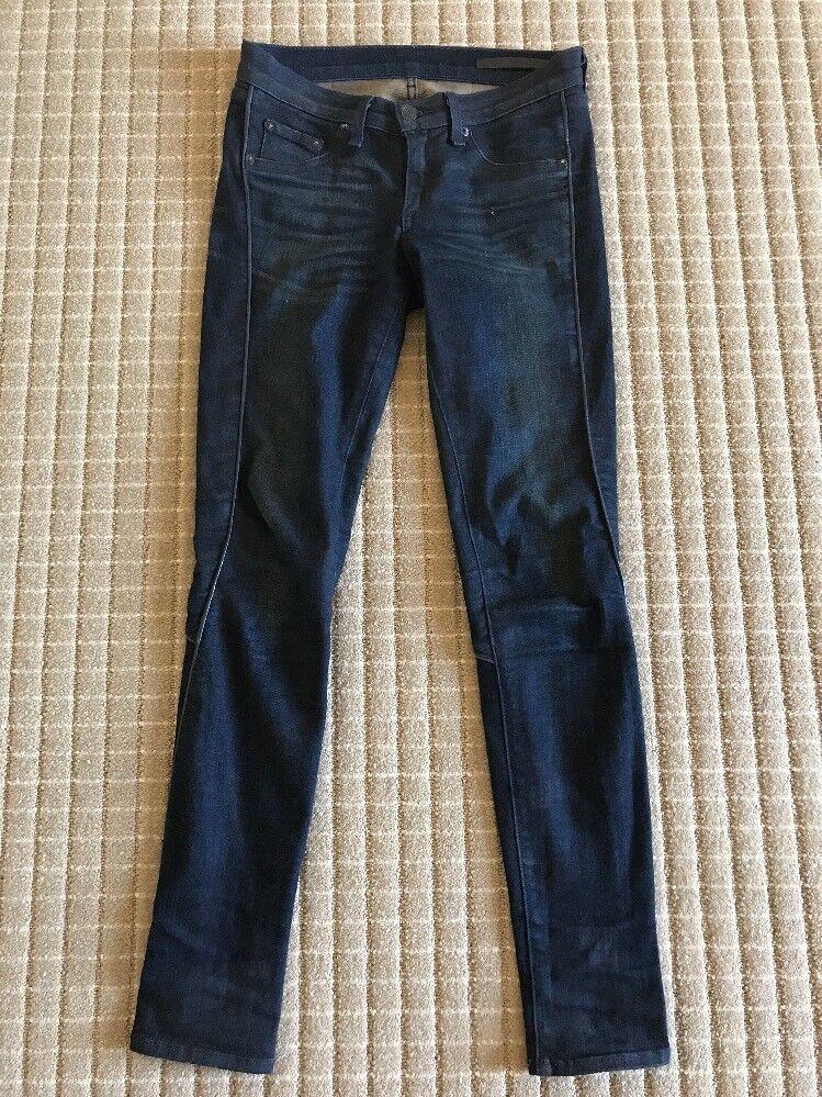 Rag & Bone Womens Jeans Wakefield Bomber Legging Leather Trim Size 26   264.00