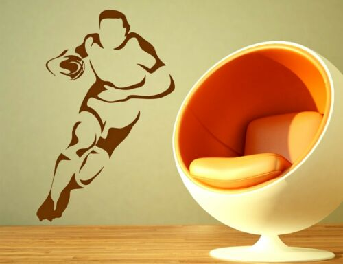 Rugby Player Decorative Vinyl Wall Sport Art Sticker Decal Bedroom