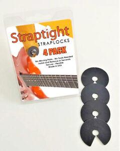 STRAP TIGHT Guitar Strap Locks USA Made Satriani Endorsed No Mod Straptight