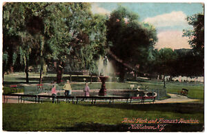 CPA-USA-Thrall-Park-and-Fireman-039-s-Fountain-Middletown-New-York