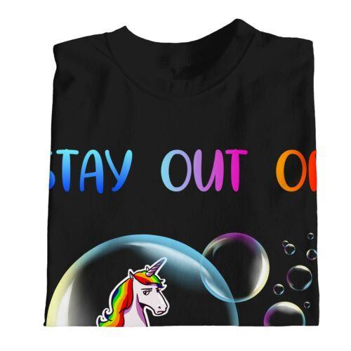 1Tee Bambini Ragazzi stare fuori dalla mia BUBBLE Unicorno T-shirt