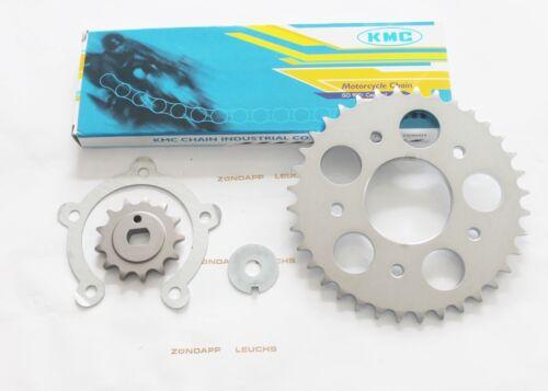34 Z Kreidler Florett K 54 RS RMC TM RSH 5-Gang Ritzel 1//4 420 Kettensatz 15
