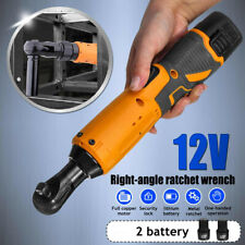 """REXBETI Cordless 3//8/"""" Electric Ratchet Wrench Set with Double 12V Lithium-Ion Ba"""