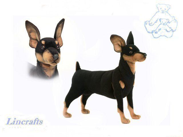 Hansa Female Doberman 9017 Plush Soft Toy Dog Sold by Lincrafts Established 1993