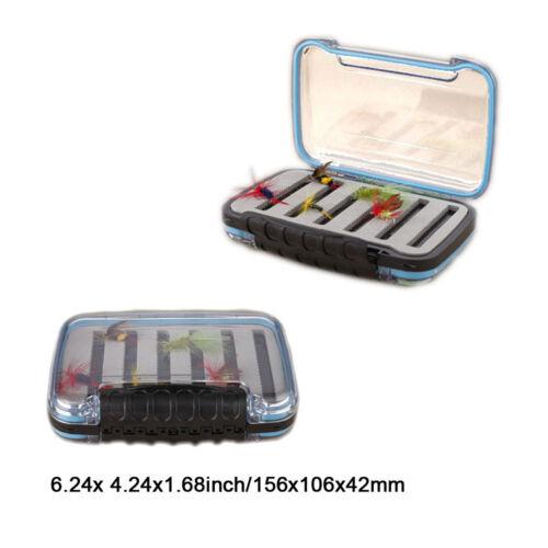 Double Side WaterproofFly Fishing Box Slit Foam FlyBox Dry Flies Fishing Package