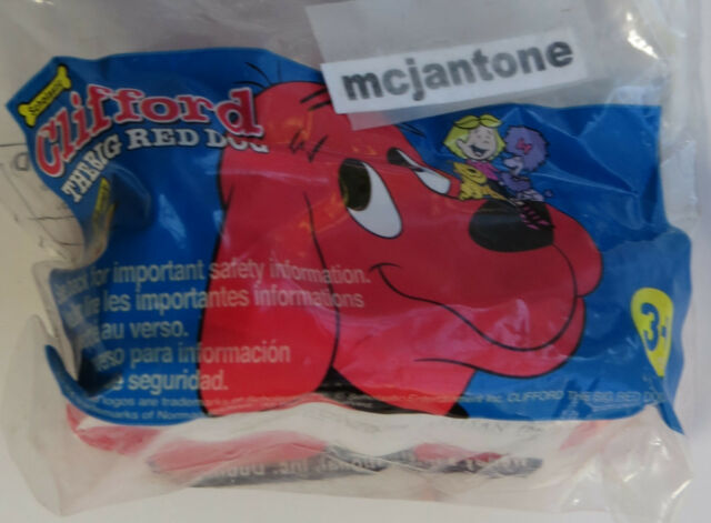 MIP Wendy's 2002 Clifford Big Red Dog ROLLING MEASURE TAPE ? Scholastic Kids Toy