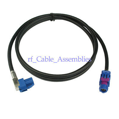 male 1.2m Shielded Dacar 535 4-Core Cable for BMW、Benz FAKRA HSD LVDS Z female