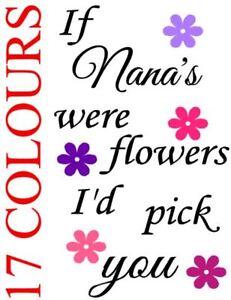 If grandmas were flowers I/'d pick you sku180 Wine bottle vinyl decals//stickers