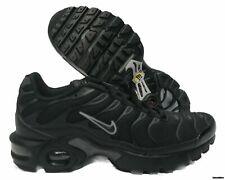 new product 5694c 49df3 Nike Air Max Plus TN GS Black Pure Platinum Running Shoes Sz 6y 655020-053