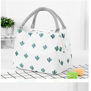 Cactus Insulated Lunch Bag Tote Thermal Cooler Camp Travel