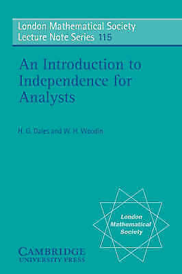 1 of 1 - An Introduction to Independence for Analysts (London Mathematical-ExLibrary