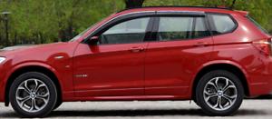 For-2018-2020-G01-BMW-X3-Chrome-Vent-Window-Visor-Rain-Guard-Side-Wind-4Pcs