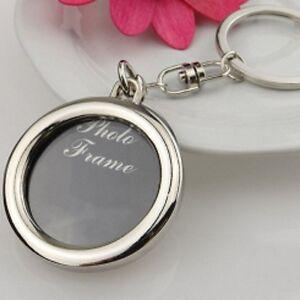 Photo-Frame-Rotary-Keyring-Key-Ring-Keychain-Keyrings-Rings-Keys-Circle-Shape