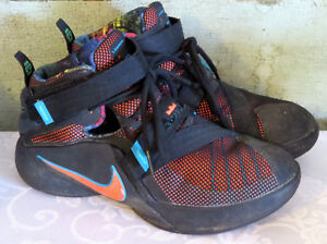 check out 0b418 84d29 ... where can i buy image is loading nike lebron james soldier xl 9 black  neon 00892