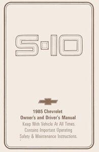 1985 chevrolet s 10 blazer truck owners manual user guide operator rh ebay com 1985 Blazer Interior 1991 Blazer
