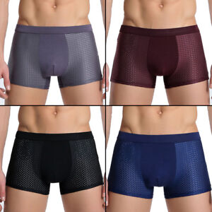 Sexy-Men-Ice-silk-Underwear-Boxer-Briefs-Breathable-Underpants-Boxer-Shorts