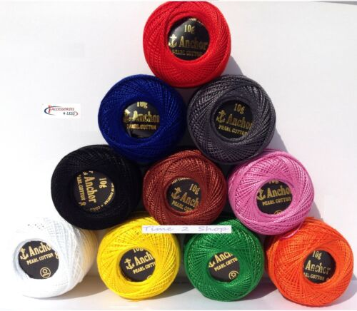 n ° 8 más exigentes Colores Vibrantes 10 Premium Bolas Bordado Perla Algodón
