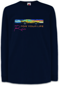 Race-For-You-Life-Kinder-Langarm-T-Shirt-Car-Racer-Gaming-Rennwagen-Rennspiel