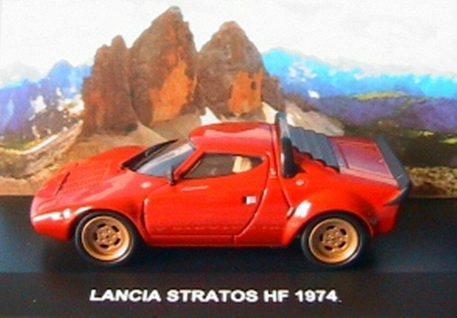 LANCIA STRATOS HF 1974 ROUGE EDISON EG 1 43 rouge rouge rouge MODEL CAR DIE CAST rouge