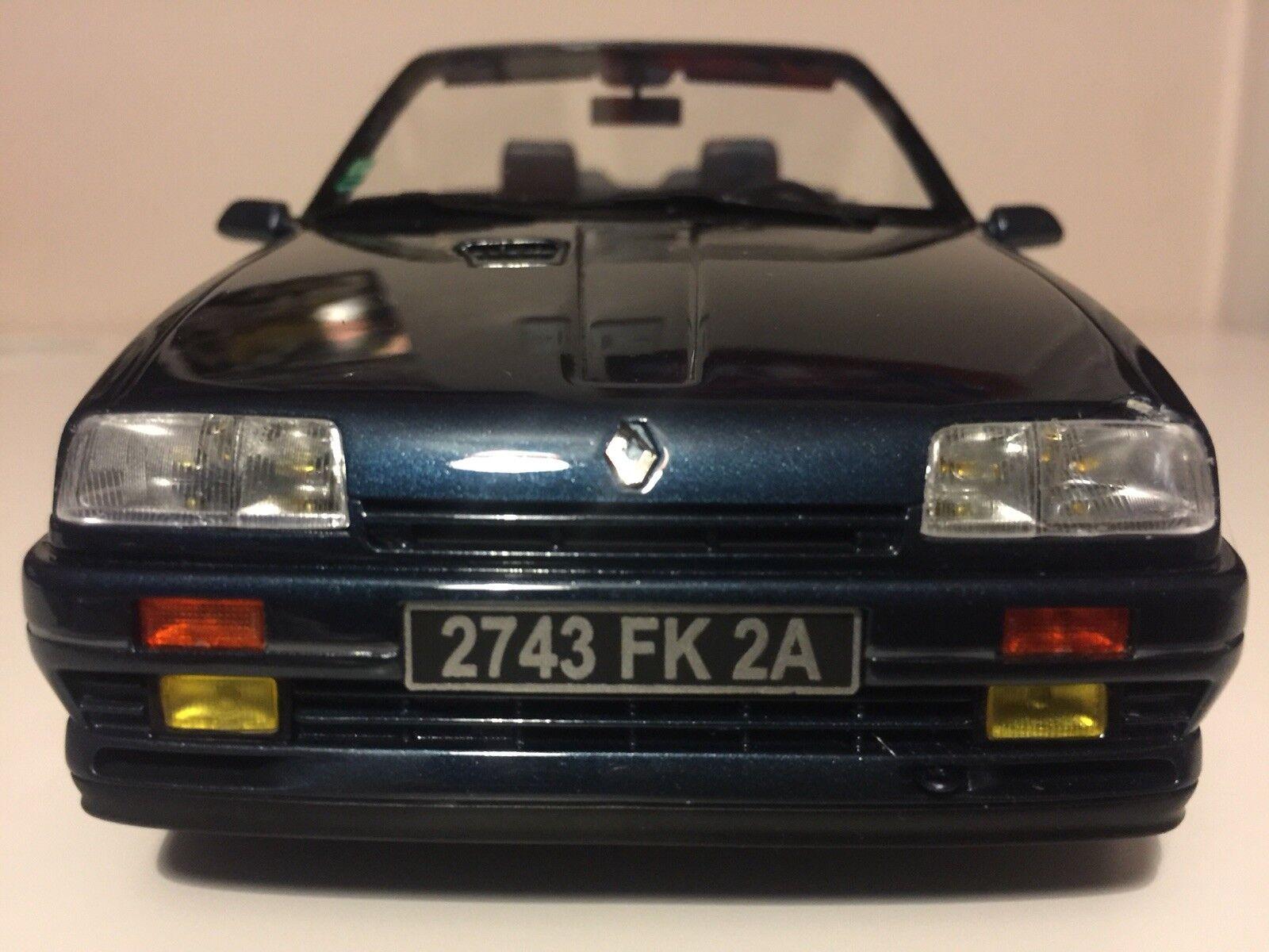 OTTO MOBILE RENAULT 19 16S CABRIOLET model car dark bluee Ltd Ed 1 18