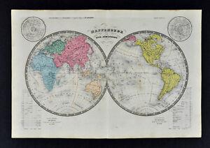 Map Of Texas Vs Europe.Ansart Map World In Hemispheres America Europe Asia Africa Texas