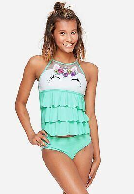 NWT JUSTICE Girl PURRMAID Mermaid Kitty Cat Tankini Swimsuit 6 8 10 12 14 18 20