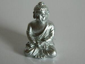 (g10) échelle 1/12th Maison De Poupées Couleur Argent Bouddha-afficher Le Titre D'origine Brillant En Couleur
