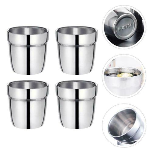 Steel double-layer Cup Mug Drinking Coffee Beer Camping Tumbler R7B4