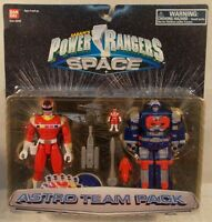 Power Rangers In Space Astro Team Pack With Red Lightstar Ranger & Megazord