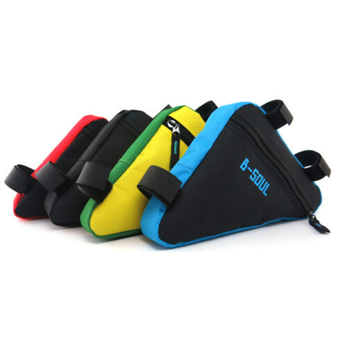 Bicycle Bike Front Frame Triangle Bag Cycling Tube Pouch Holder Saddle Panniers