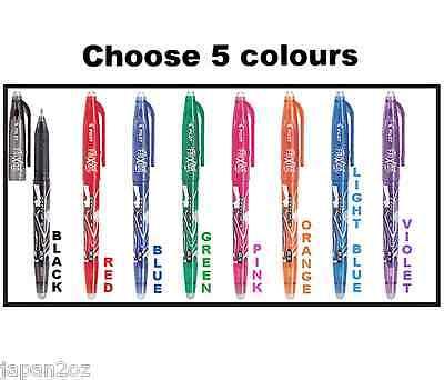 5 FRIXION ERASABLE COLOUR PENS of your choice 0.5 Ballpoint pens by Pilot Japan