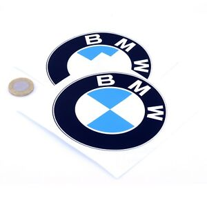 BMW-Badge-Decal-Vinyl-Car-STICKERS-100mm-x2-Motorcycle-Race-Racing-Rally