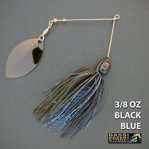 Bassdozer-spinnerbaits-SINGLE-OKLAHOMA-3-8-oz-BLACK-BLUE-spinner-bait-lures