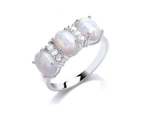 OPALE-anello-argento-sterling-massiccio-tre-pietre-Trilogy-FIDANZAMENTO