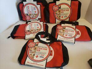 FIRST AID KIT MEDICAL BAG W/ ZIPPER JOHNSON & JOHNSON empty bag lot of 5