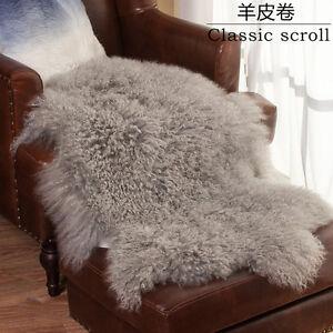Details About 50cm 80cm New Genuine Mongolian Sheepskin Lamb Wool Fur Rug