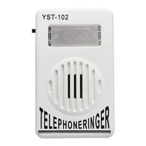 Extra-Loud-Telephone-Phone-Bell-Ringer-Strobe-Light-Flasher-Sound-Amplifier-Hot