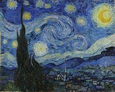 Van Gogh - Starry Night - 8 x 10  Real Canvas Fine Art Print