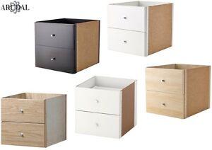 Ikea-kallax-insert-avec-2-tiroirs-diverses-couleurs-33-x-33-cm