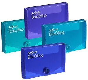 Snopake PLASTIQUE Resistant Cartes De Visite Boite Rangement