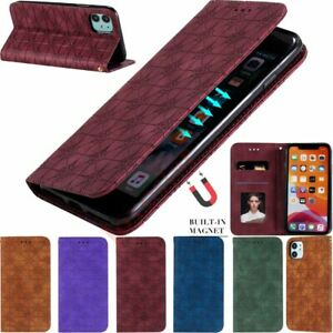 For iPhone SE 2020 11 Pro Max X 7 8 Plus Magnetic Leather Wallet Flip Case Cover