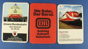 Quartett - Unsere Bundesbahn - Schmid 58122 - Die Bahn. Der Beruf. Werbequartett
